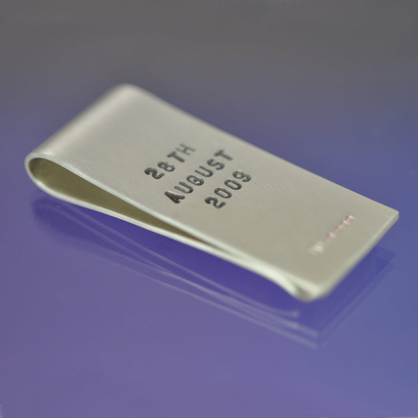 Hand Stamped Money Clip