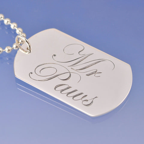 Personalised Dog Tag Silverware Chris-Parry-Handmade