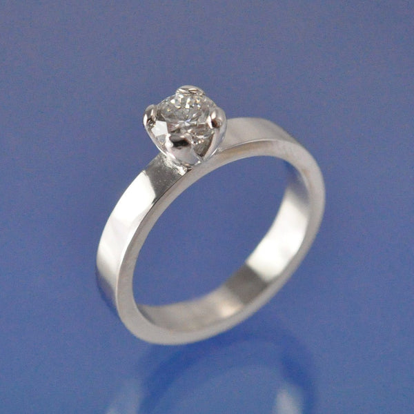 Contemporary Simple Diamond Ring