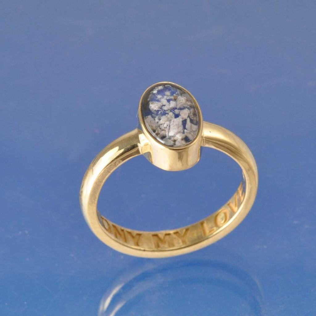 Oval Cremation Ash Ring