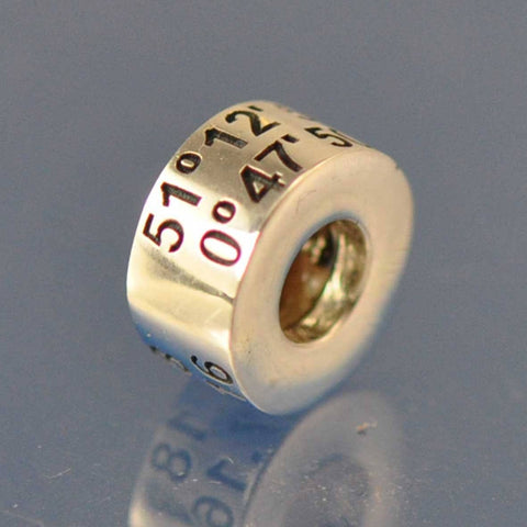 Co-ordinates. Personalised Bead. Bead Chris-Parry-Handmade