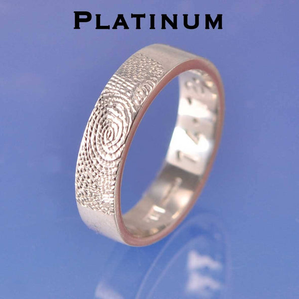 Fingerprint Ring - Platinum