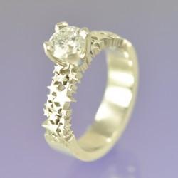 Star Burst Diamond Ring