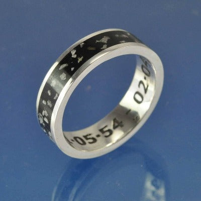 Cremation Ash Ring. 5mm Channel Set