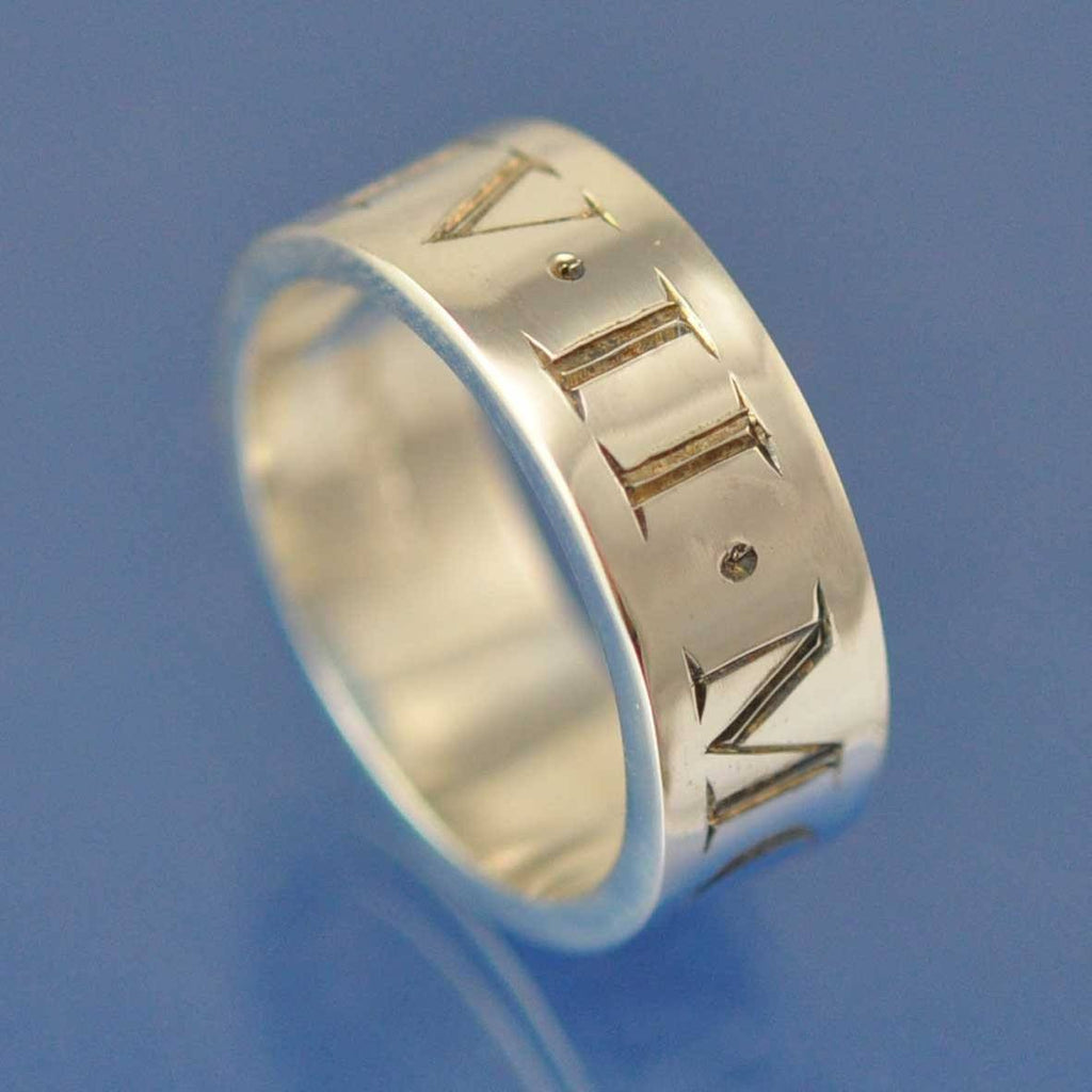 Roman Numeral Ring Chris Parry Handmade