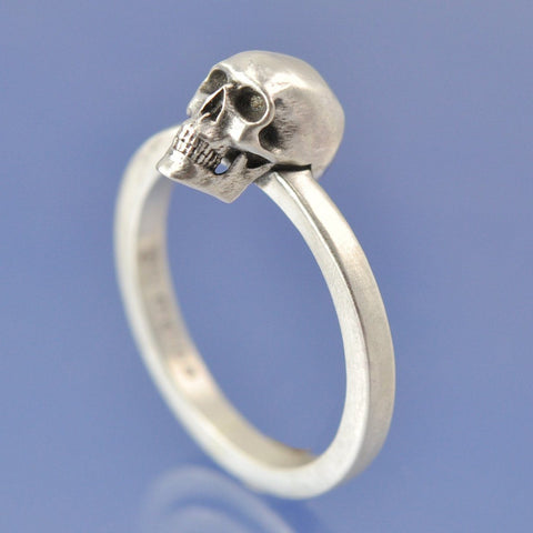 Cremation Ash Skull Ring Ring Chris-Parry-Handmade