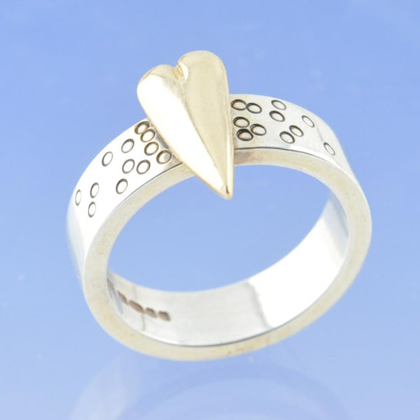 Small Effervescent Heart Cremation Ash Ring