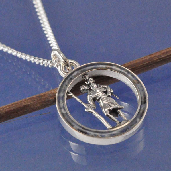 St Christopher Cremation Ash Pendant