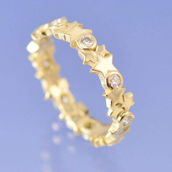 Diamond Star Ring. 0.27ct