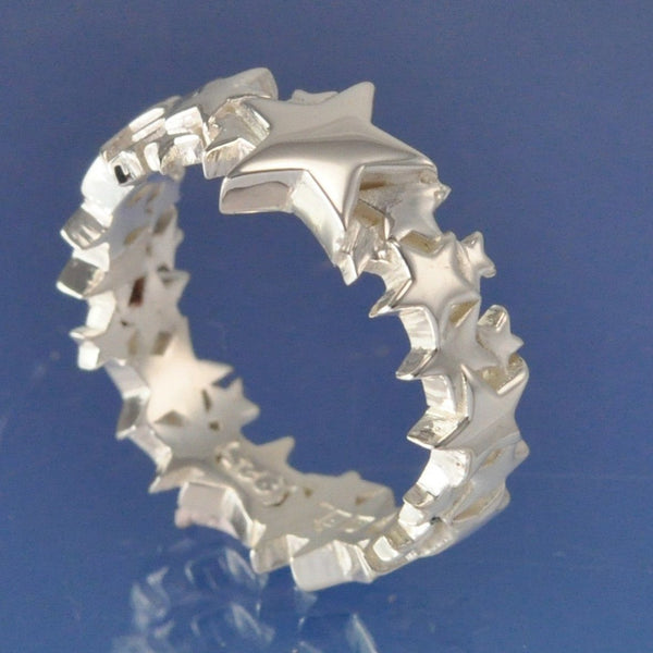 Cremation Ash Star Shining Ring