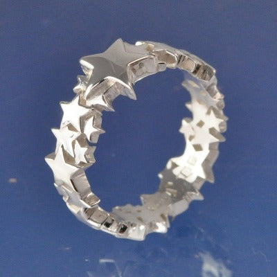 Cremation Ash Star Shining Ring Ring Chris-Parry-Handmade