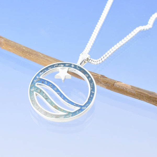 Star Seascape Cremation Ash Pendant
