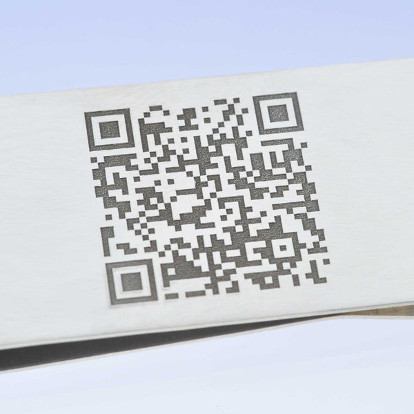 Personalised QR Code Steel Money Clip