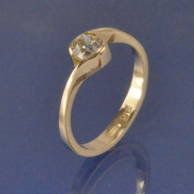 Simple Crossover Diamond Ring Ring Chris-Parry-Handmade