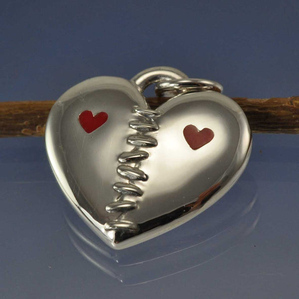 Cremation Ash Stitched Heart