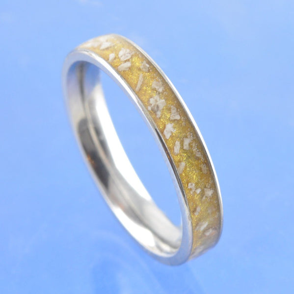 4mm Channel set Cremation Ash Ring - Titanium