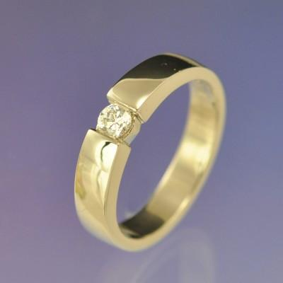Faux Tension Set Diamond Ring