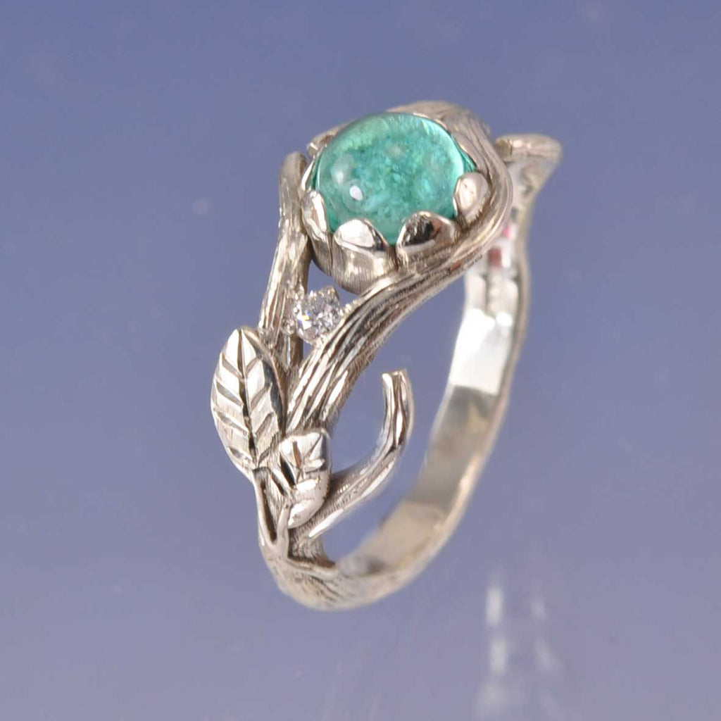 Cremation Ash Petal Twig Ring