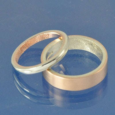 9k Two Tone Fingerprint Rings