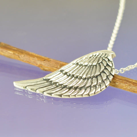 Fingerprint Necklace - Angel Wing Pendant Chris-Parry-Handmade