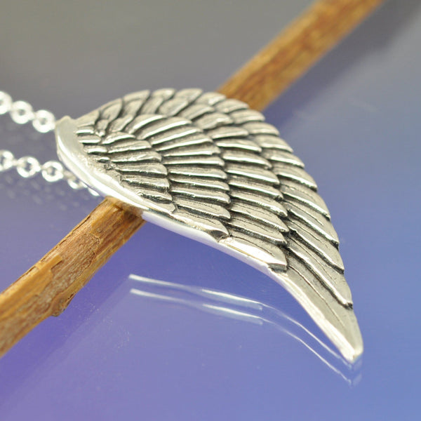 Angel Wing Fingerprint Pendant