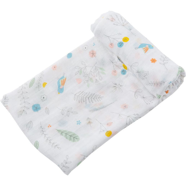 Angel Dear Pretty Foliage Bamboo Swaddle Blanket - Frolicstyle