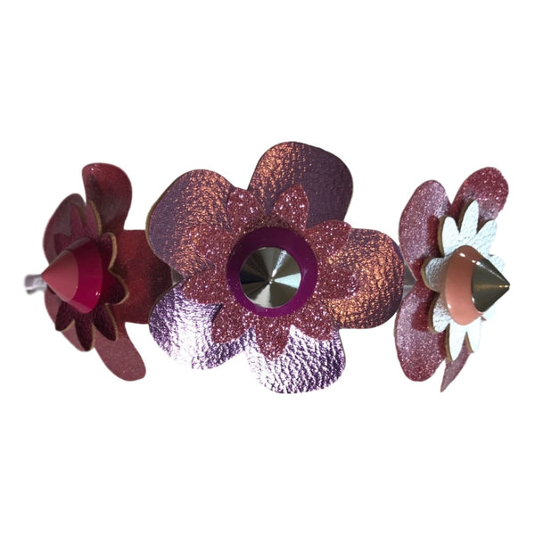 Bari Lynn Three Studded Flowers Headband