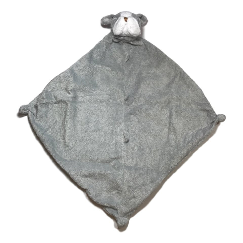 Angel Dear Grey Bulldog Blankie - Frolicstyle