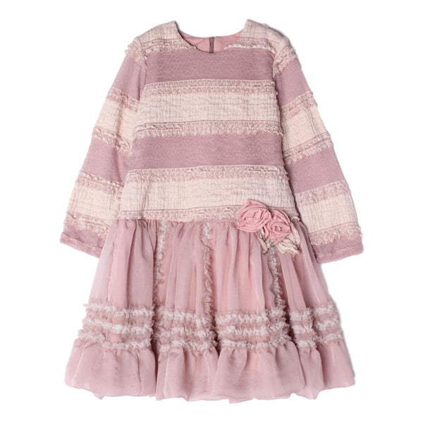 Isobella and Chloe Amelia Rosy Mauve Dress - Frolicstyle