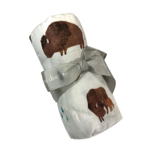 Angel Dear Bison Bamboo Swaddle Blanket - Frolicstyle