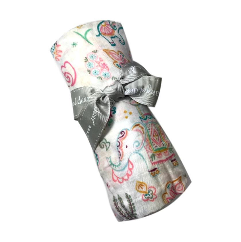 Angel Dear Boho Elephant Swaddle - Frolicstyle