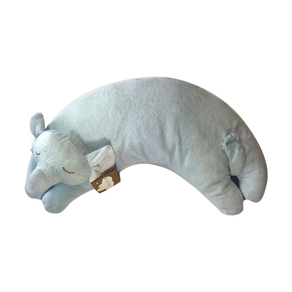 Angel Dear Blue Elephant Curved Pillow - Frolicstyle