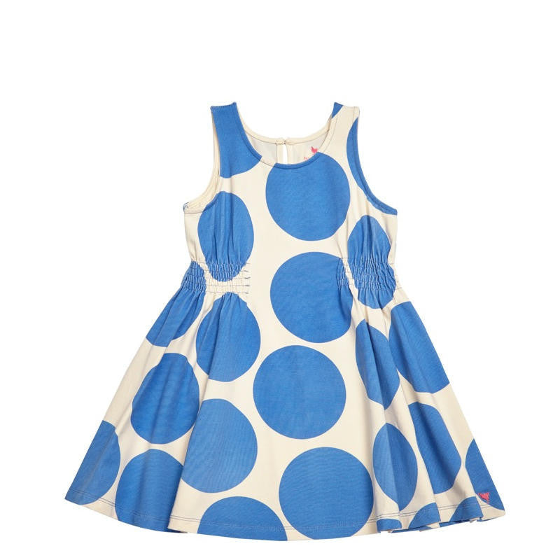 Pink Chicken Avery Sleeveless Blue Polka Dot Dress - Frolicstyle