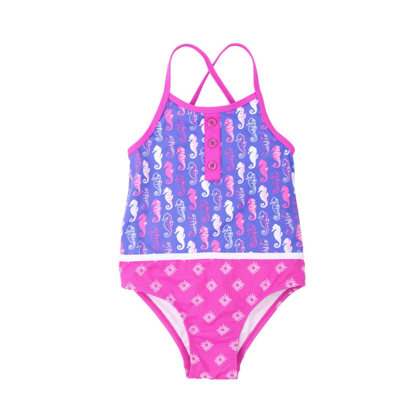 Hatley Pink Seahorse One Piece Swimsuit - Frolicstyle
