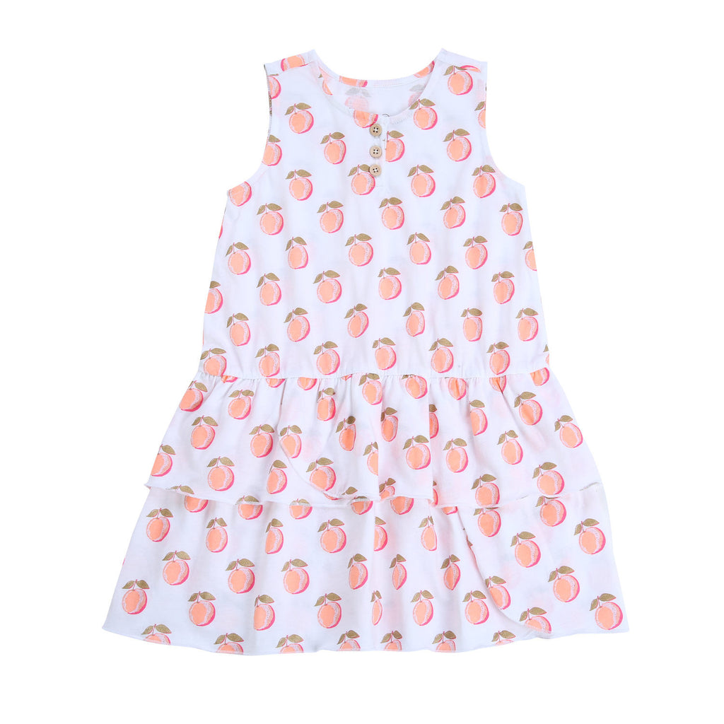 Egg Baby Brianna Sleeveless Peach Print Dress - Frolicstyle
