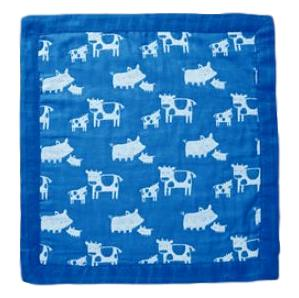 "Angel Dear 17"" x 17"" Farm Animal Blue Jacquard Blankie - Frolicstyle"