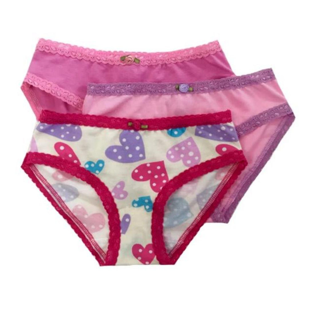 Esme Girls 3 Pack Underwear - Confetti Hearts - Frolicstyle