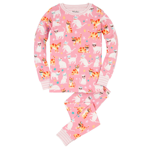 Hatley Cool Cats Organic Cotton Pajamas