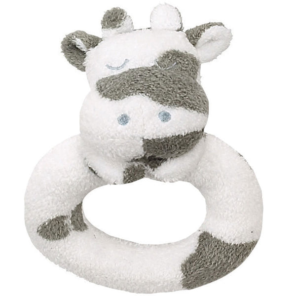 "Angel Dear 4"" Cow Ring Rattle - Frolicstyle"