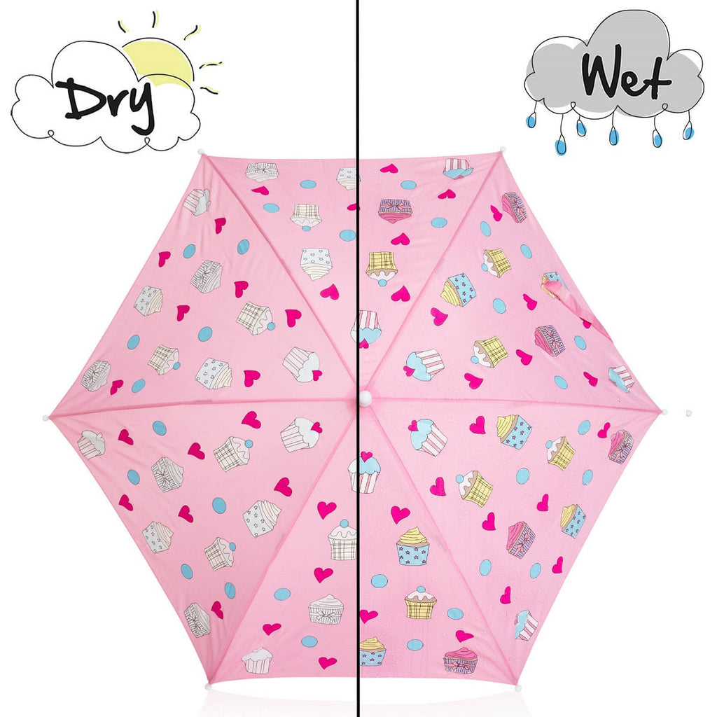 Holly&Beau Pink Cupcake Color Changing Umbrella - Frolicstyle