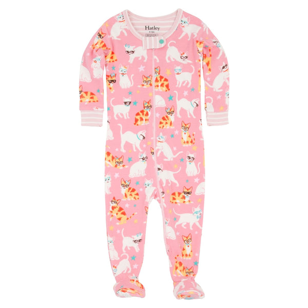 Hatley Cool Cats Organic Cotton One Piece Pajamas - Frolicstyle