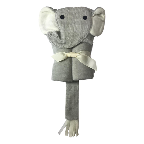 Elegant Baby Grey Elephant Hooded Bath Wrap - Frolicstyle
