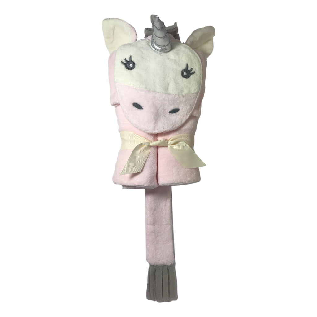 Elegant Baby Pink Unicorn Hooded Bath Wrap - Frolicstyle