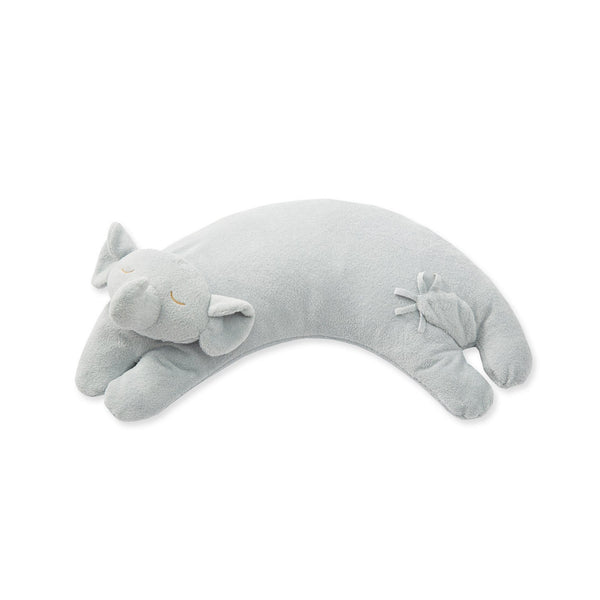 Angel Dear Grey Elephant Curved Pillow - Frolicstyle