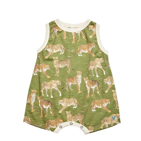 Pink Chicken Eli Boy's Sleeveless Onesie - Frolicstyle