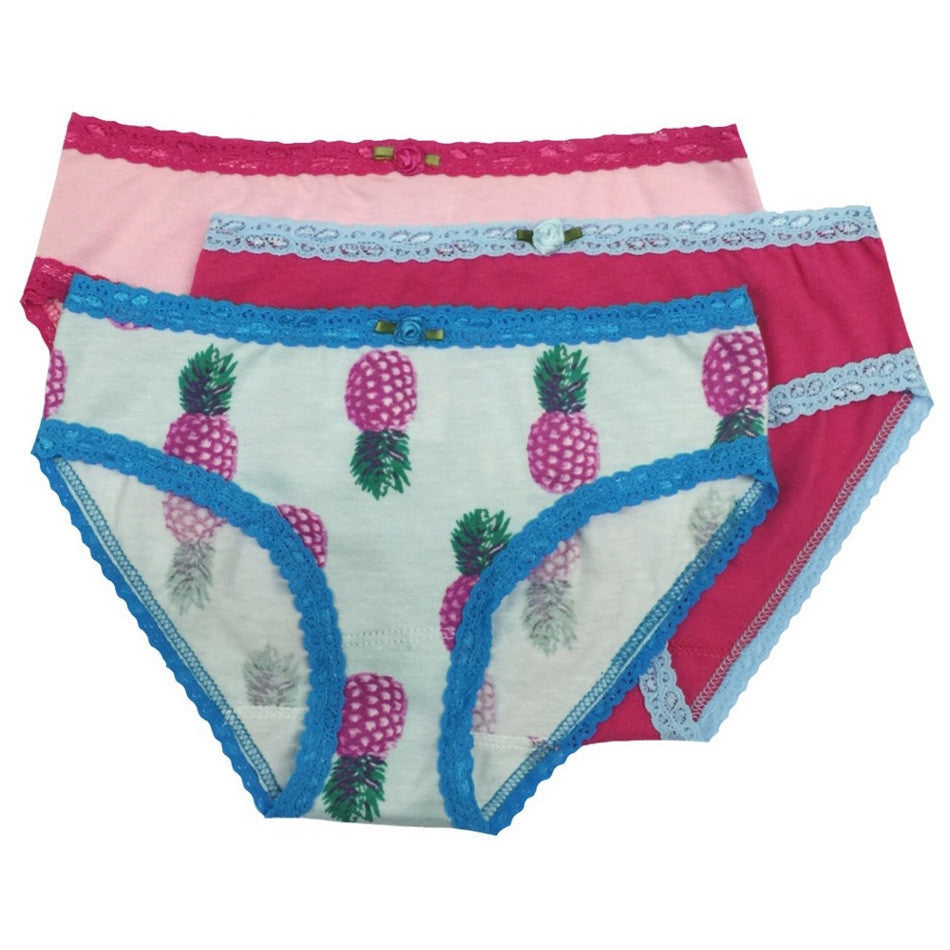 Esme Girls 3 Pack Underwear - Tropical Pineapple - Frolicstyle