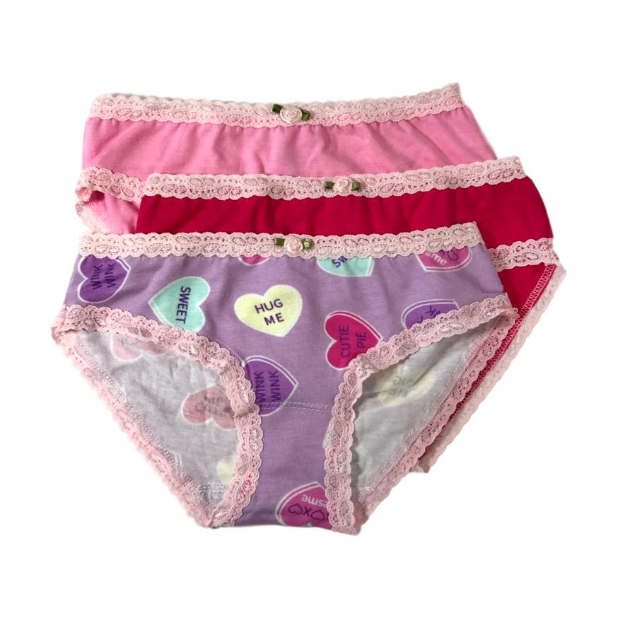 c9d3974eacbb89 Esme Girls 3 Pack Candy Heart Underwear - Frolicstyle