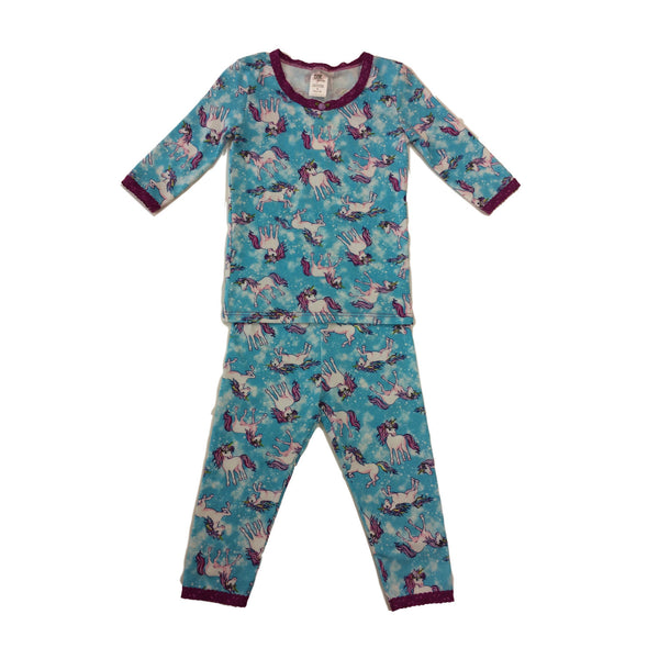 Esme Pajamas Unicorn Magenta Lace