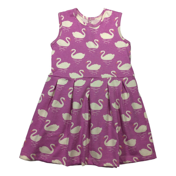 Winter Water Factory Essex Girls Sleeveless Dress in Swan Magenta - Frolicstyle