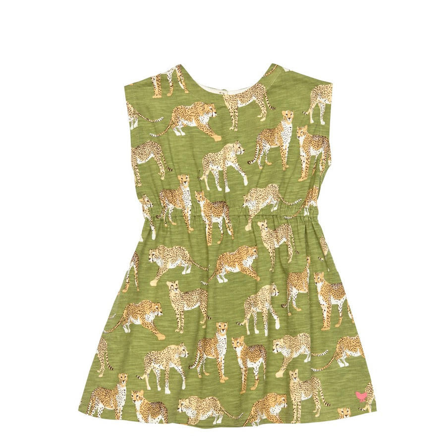 Pink Chicken Hadley Sleeveless Green Dress - Frolicstyle